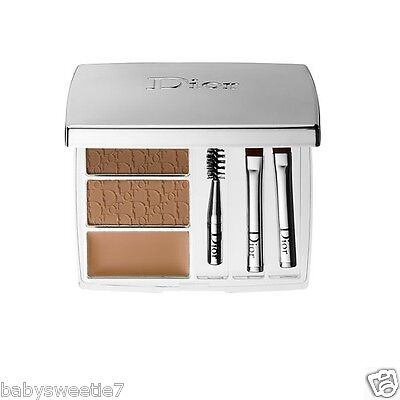 Dior All-In-Brow Long-Wear Brow 3D BackStage Pro Brow Brush Palette 002 Blonde