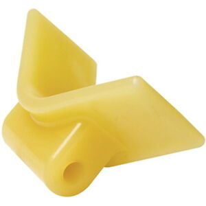 3-Inch-Mounting-Width-Boat-Trailer-Non-Marking-Yellow-Molded-Rubber-V-Bow-Stop