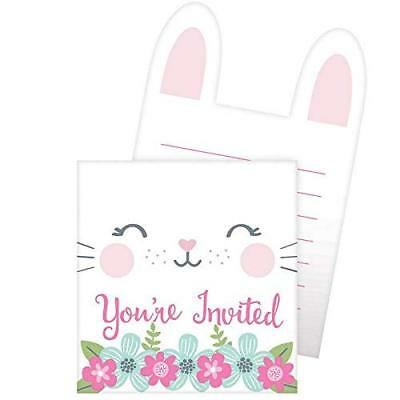 Bunny 1st Birthday, Baby Shower Party Supplies Invitations - 1st Birthday Party Invitations