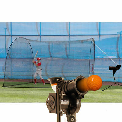 PowerAlley Lite Pitching Machine and HomeRun Batting Cage