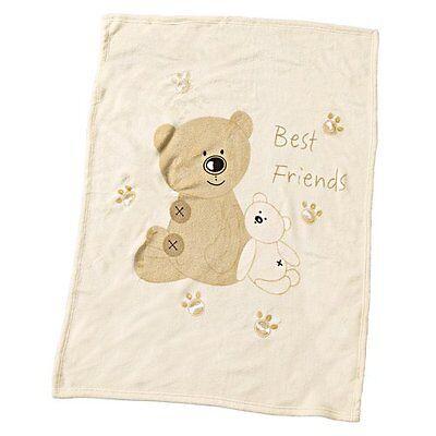 ALVI Babydecke Best Friends 75x100 cm Schmusedecke Babydecke NEU beige