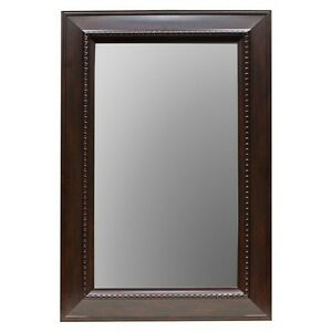 Threshold Wall Mirror Brown 24x36