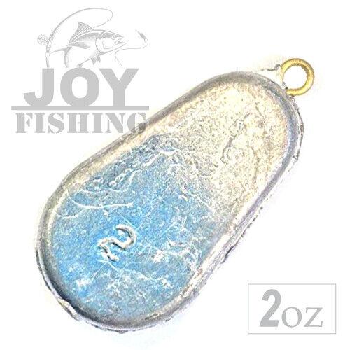 FLAT 2oz Tackle Lead Fishing Sinker Weights 5LBS Bulk Pack