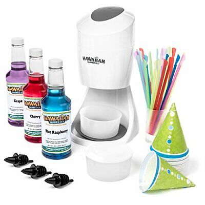 S900a Shaved Ice And Snow Cone Machine With 3 Flavor Syrup Pack And