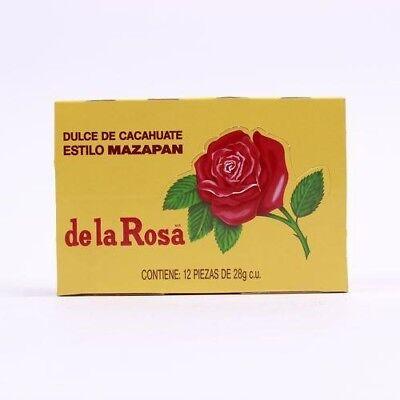 De La Rosa Mazapan Peanuts Confection, 24Pcs Mexican Candy