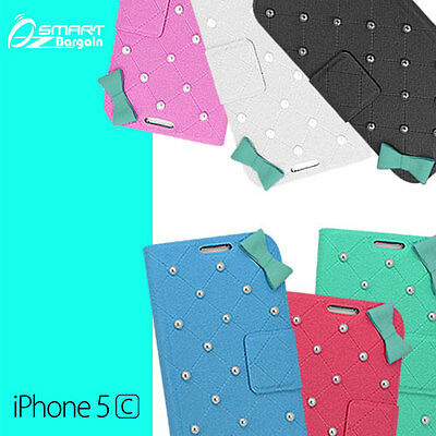 Pearl Wallet Flip Case Cover for iPhone 5c 5 c  Fancy + Screen Guard  Pearl Flip Case