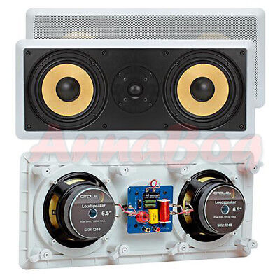 "In Wall Ceiling Home Theater Speaker 6.5"" Surround Sound 2 Way Center Peak 300 W"