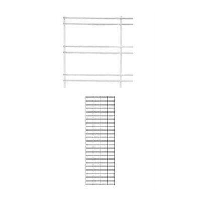Slatwall Grid Panel In White 2 X 6 Feet - Box Of 2
