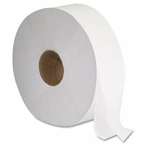 """GEN Jumbo 2-Ply Toilet Paper Rolls, 12"""" Diameter, White, 6 Rolls (GEN1513)"""