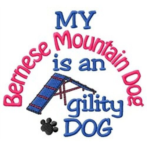 My Bernese Mountain Dog is An Agility Dog Fleece Jacket - DC2088L Size S - XXL