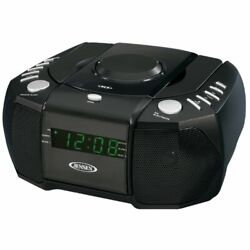 JENSEN JCR-310 AM/FM Stereo Dual Alarm Clock Radio with Top Loading CD Player...