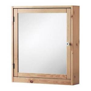 Ikea Silveran Mirror Cabinet - Light Brown Bathroom Cabinet