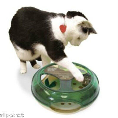 """""""THRILL OF THE CHASE"""" CAT TOY by Our Pets - SQUEAKY MOUSE INSIDE!   MADE IN USA"""
