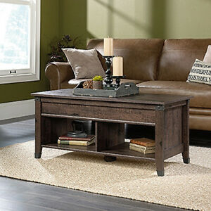 Lift Top Coffee Table - Coffee Oak finish (Scratch & Dent)