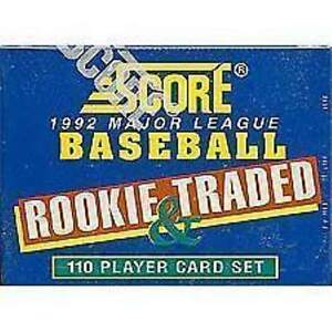 1992-Score-Rookie-and-Traded-Baseball-Factory-Set-110-Card-Factory-Sealed-Set