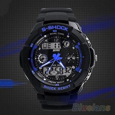 The Best Men Analog Digital Alarm Date Waterproof Sport Backlight Watch