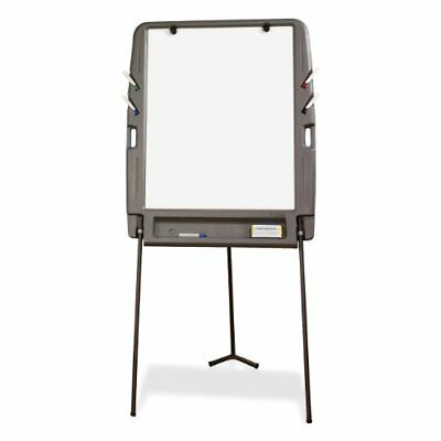 Portable Flipchart Easel Dry Erase Surface - Charcoal