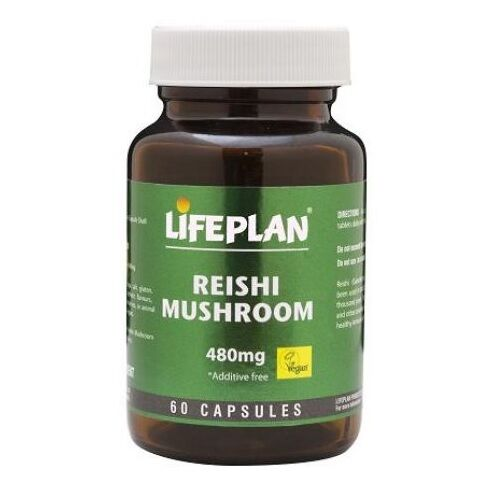 Lifeplan Reishi Mushroom 60 Capsules 480mg
