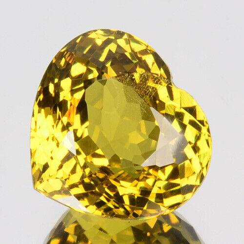 ~LOVELY~ 3.30 Cts Natural Mali Garnet Greenish Yellow Heart Cut Mali (Video Avl)