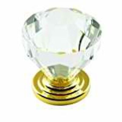 Amerock BP14303CBB Traditional Classics Knob with Acrylic Base, Crystal, 1.25-In Amerock Traditional Classics Crystal