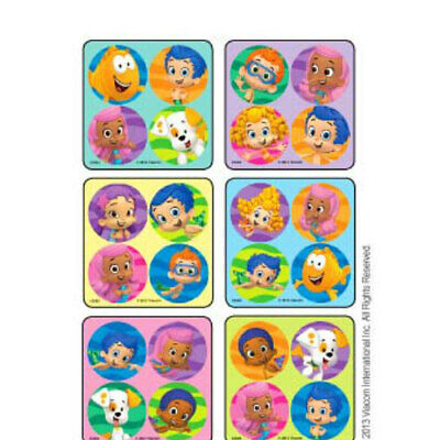 100 Bubble Guppies MiniBadges STICKERS Party Favors for Birthday Treat Loot Bags](Bubble Guppies Birthday)