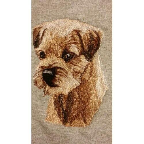 Embroidered Short-Sleeved T-shirt - Border Terrier BT3415 Sizes S - XXL