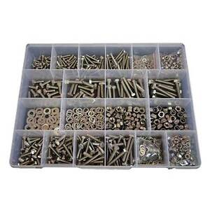 Qty 1300 Hex Bolt Kit M5 M6 M8 Stainless Steel 304 Screw Nut Washer SS #277