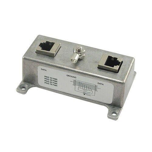 L-com Indoor 10/100/1000 Base-T Shielded CAT6 PoE Lightning Protector HGLN-CAT6J