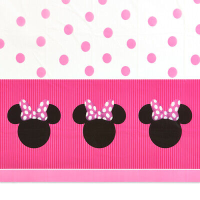 MINNIE MOUSE PLASTIC TABLE COVER ~ Birthday Party Supplies Decoration Cloth Pink](Minnie Mouse Table Cover)