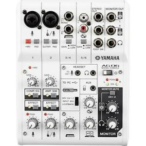 Yamaha 6-Channel Mixer with USB Audio Interface (AG06) - BRAND NEW