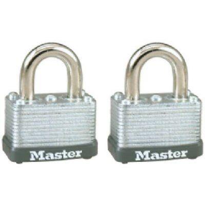 Master Lock 22t Keyed Alike Warded Padlock 1-12 Inch 2-pack