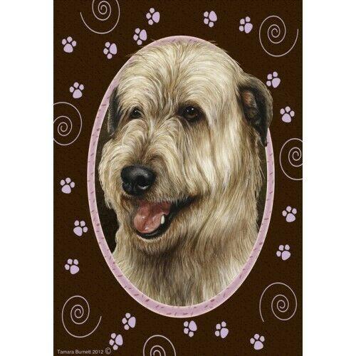 Paws House Flag - Wheaten Irish Wolfhound 17330