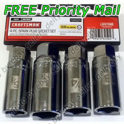 Craftsman 4 pc Spark Plug Socket Set 3/8