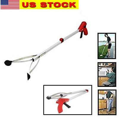 Foldable Pick Up Tool Grabber Reacher Stick Reaching Grab Extend Reach 32