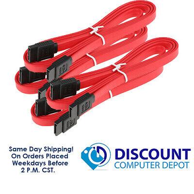 SATA II SATA2 2.0 Data Cable Straight Hard Drive DVD cable 4 PACK (4x cables) 4 Pack Hard Drive