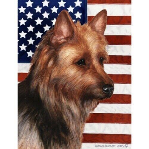 Patriotic (D2) House Flag - Australian Terrier 32203
