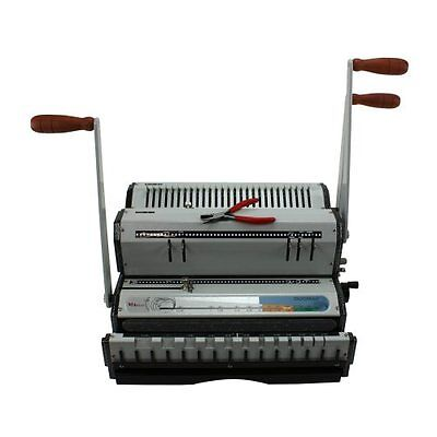 New Akiles DuoMac 421 4:1 Coil and 2:1 Wire Binding Machine - Free Shipping ()