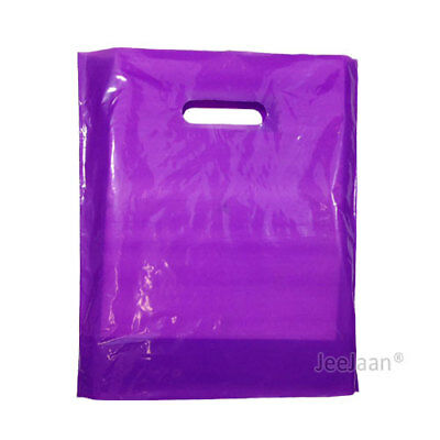 100 Purple Plastic Carrier Bags 15