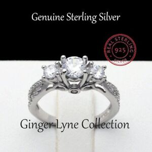3 Stone Hearts and arrows Solid .925 Sterling Silver 100% NEW