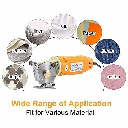 Electric Cloth Cutting Machine Fabric Cutter 70mm Diameter Rotary Blade Fabric