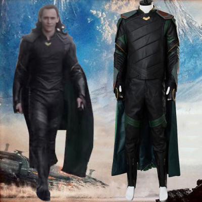 The Avengers Thor 3 Ragnarok Loki Tom Sakaar Outfit Cape Cosplay Costume Suit](Avengers Outfit)