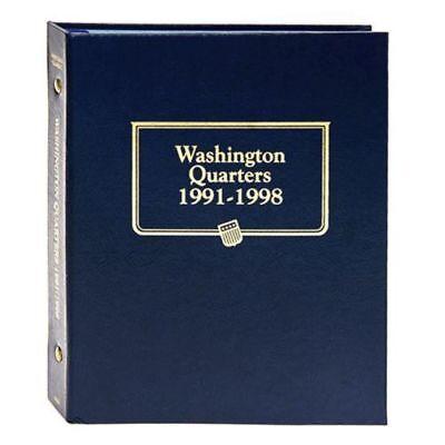 (New Whitman OFFICIAL WASHINGTON QUARTERS 1991-1998 UNITED STATES Album BOOK#9123)