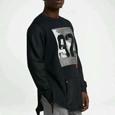 Nike Air 92 Crewneck Long Sleeve Sweatshirt Black 802640-010 Men's Size Medium