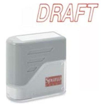 Sparco Self-inking Stamp - Draft Message Stamp - 1.75 X 0.62 - Red Spr60017