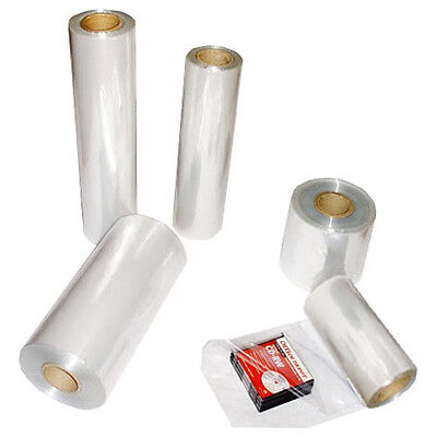 "16"" 1500 Ft 100 Gauge Clear PVC Central Fold Heat Shrink Film Retail Packaging"