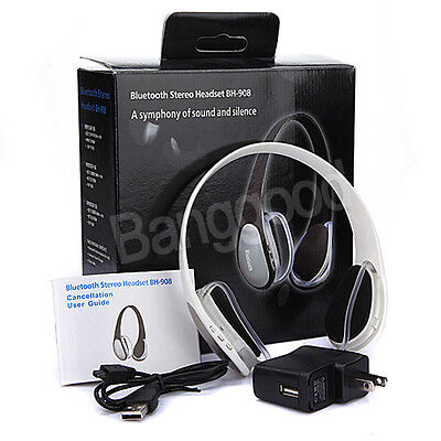 Wireless Bluetooth Stereo Headset Headphones For PC Laptop iPhone 4S Phone MP3 on Rummage