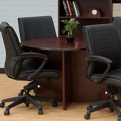 Round Meeting Conference Table Boardroom Private Office Wood 3642486072