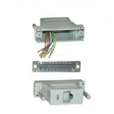 DB25 pin Male~RJ45 Jack Modular Adapter 8P8C Network/Ethernet RS232 RS422 RS485 Db25 Network Adapter
