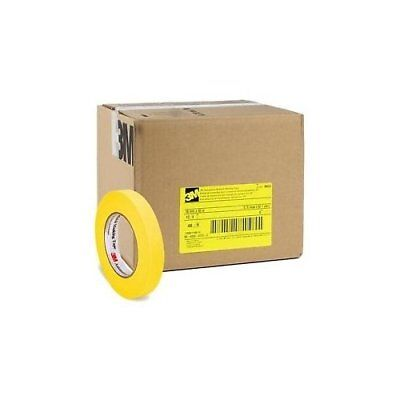 3M 06652 Crepe Paper Automotive Refinish Masking Tape 3/4 Inch, 48-Pack, Yellow
