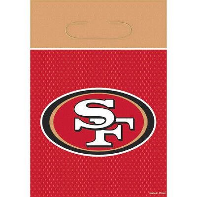 NFL SAN FRANCISCO 49ERS FAVOR BAGS (8) ~ Birthday Party Supplies Treat Loot ()